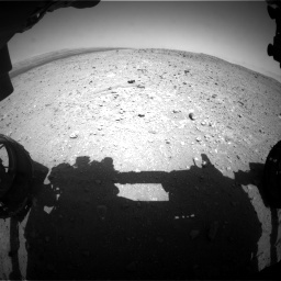 NASA's Mars rover Curiosity acquired this image using its Front Hazard Avoidance Cameras (Front Hazcams) on Sol 404