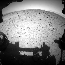 Nasa's Mars rover Curiosity acquired this image using its Front Hazard Avoidance Camera (Front Hazcam) on Sol 404, at drive 1502, site number 16