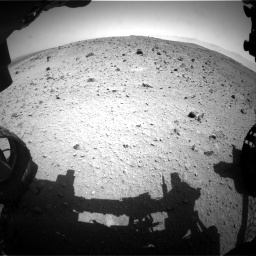 Nasa's Mars rover Curiosity acquired this image using its Front Hazard Avoidance Camera (Front Hazcam) on Sol 404, at drive 1508, site number 16