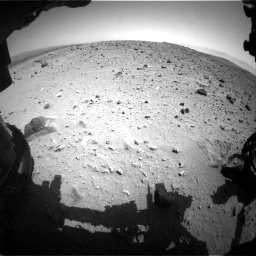 Nasa's Mars rover Curiosity acquired this image using its Front Hazard Avoidance Camera (Front Hazcam) on Sol 404, at drive 1562, site number 16