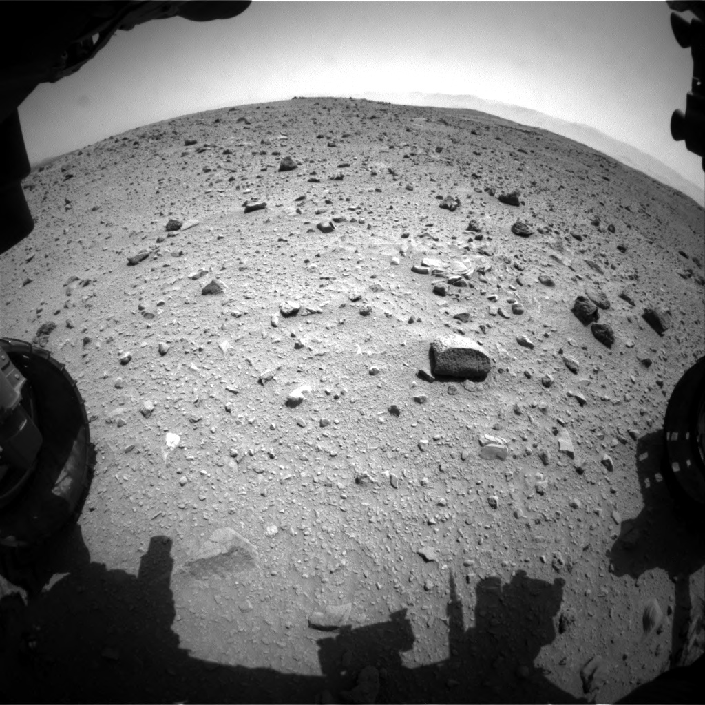 Nasa's Mars rover Curiosity acquired this image using its Front Hazard Avoidance Camera (Front Hazcam) on Sol 404, at drive 1584, site number 16