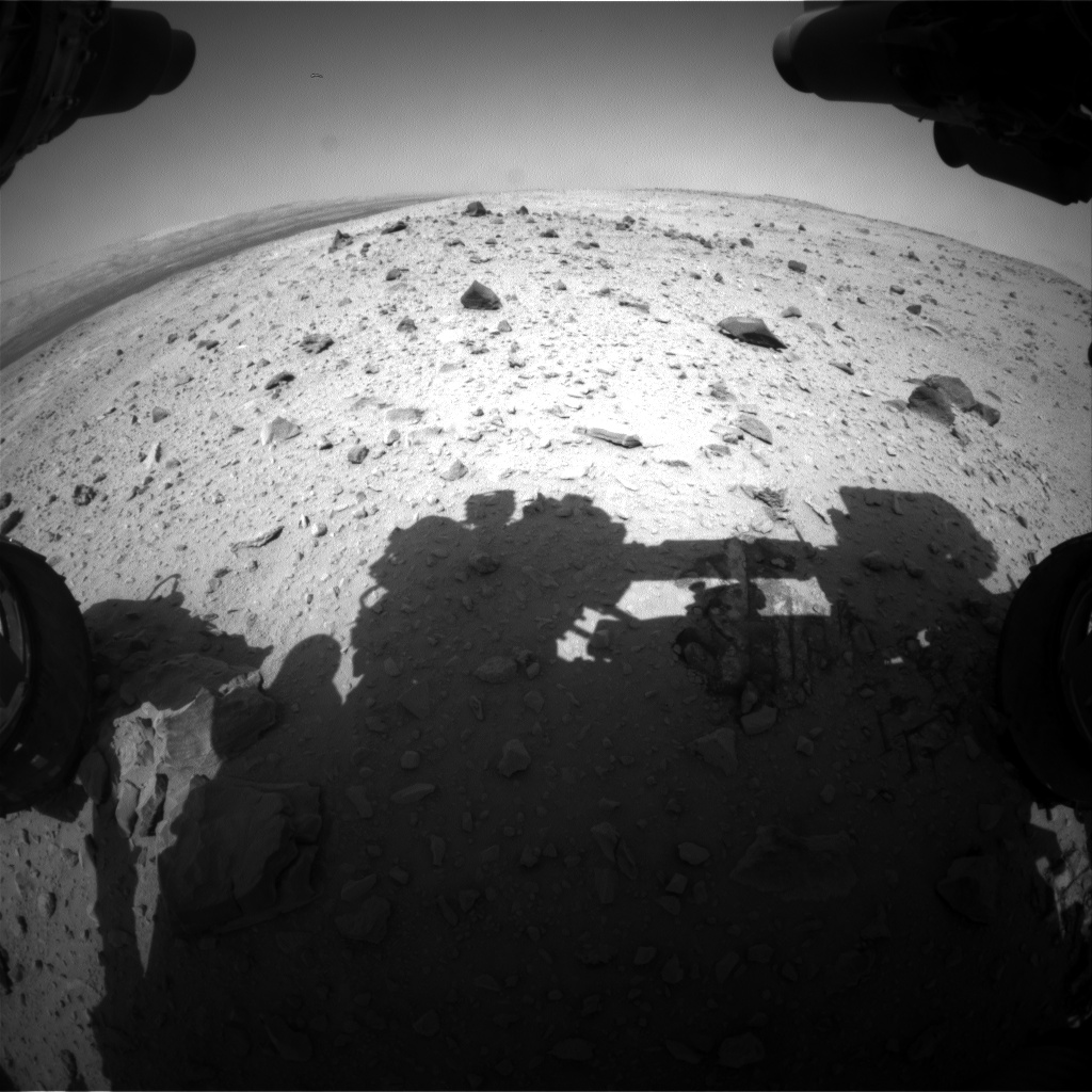 Nasa's Mars rover Curiosity acquired this image using its Front Hazard Avoidance Camera (Front Hazcam) on Sol 404, at drive 1052, site number 16