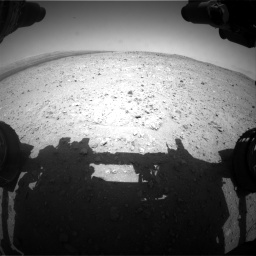 Nasa's Mars rover Curiosity acquired this image using its Front Hazard Avoidance Camera (Front Hazcam) on Sol 404, at drive 1166, site number 16