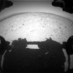 Nasa's Mars rover Curiosity acquired this image using its Front Hazard Avoidance Camera (Front Hazcam) on Sol 404, at drive 1184, site number 16