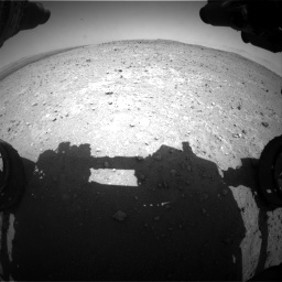Nasa's Mars rover Curiosity acquired this image using its Front Hazard Avoidance Camera (Front Hazcam) on Sol 404, at drive 1202, site number 16