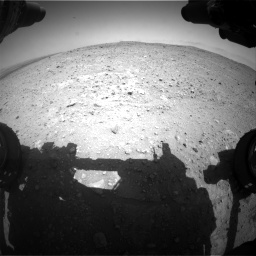 Nasa's Mars rover Curiosity acquired this image using its Front Hazard Avoidance Camera (Front Hazcam) on Sol 404, at drive 1238, site number 16