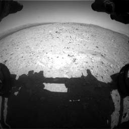 Nasa's Mars rover Curiosity acquired this image using its Front Hazard Avoidance Camera (Front Hazcam) on Sol 404, at drive 1256, site number 16