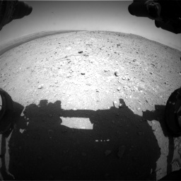 Nasa's Mars rover Curiosity acquired this image using its Front Hazard Avoidance Camera (Front Hazcam) on Sol 404, at drive 1274, site number 16
