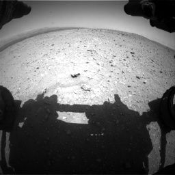 Nasa's Mars rover Curiosity acquired this image using its Front Hazard Avoidance Camera (Front Hazcam) on Sol 404, at drive 1292, site number 16
