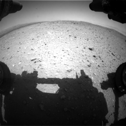 Nasa's Mars rover Curiosity acquired this image using its Front Hazard Avoidance Camera (Front Hazcam) on Sol 404, at drive 1310, site number 16