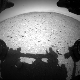 Nasa's Mars rover Curiosity acquired this image using its Front Hazard Avoidance Camera (Front Hazcam) on Sol 404, at drive 1328, site number 16
