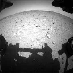 Nasa's Mars rover Curiosity acquired this image using its Front Hazard Avoidance Camera (Front Hazcam) on Sol 404, at drive 1346, site number 16