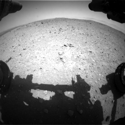 Nasa's Mars rover Curiosity acquired this image using its Front Hazard Avoidance Camera (Front Hazcam) on Sol 404, at drive 1364, site number 16