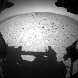 Nasa's Mars rover Curiosity acquired this image using its Front Hazard Avoidance Camera (Front Hazcam) on Sol 404, at drive 1382, site number 16