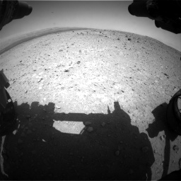 Nasa's Mars rover Curiosity acquired this image using its Front Hazard Avoidance Camera (Front Hazcam) on Sol 404, at drive 1400, site number 16