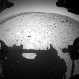 Nasa's Mars rover Curiosity acquired this image using its Front Hazard Avoidance Camera (Front Hazcam) on Sol 404, at drive 1436, site number 16