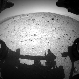 Nasa's Mars rover Curiosity acquired this image using its Front Hazard Avoidance Camera (Front Hazcam) on Sol 404, at drive 1454, site number 16