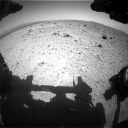 Nasa's Mars rover Curiosity acquired this image using its Front Hazard Avoidance Camera (Front Hazcam) on Sol 404, at drive 1466, site number 16