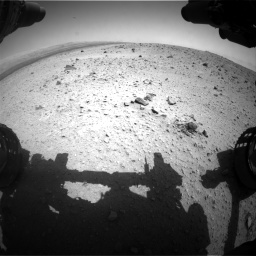 Nasa's Mars rover Curiosity acquired this image using its Front Hazard Avoidance Camera (Front Hazcam) on Sol 404, at drive 1484, site number 16