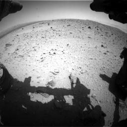 Nasa's Mars rover Curiosity acquired this image using its Front Hazard Avoidance Camera (Front Hazcam) on Sol 404, at drive 1496, site number 16