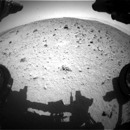 Nasa's Mars rover Curiosity acquired this image using its Front Hazard Avoidance Camera (Front Hazcam) on Sol 404, at drive 1520, site number 16
