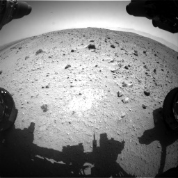 Nasa's Mars rover Curiosity acquired this image using its Front Hazard Avoidance Camera (Front Hazcam) on Sol 404, at drive 1532, site number 16