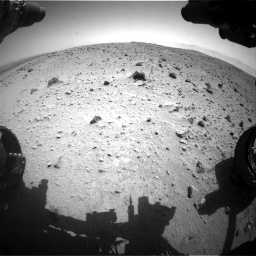 Nasa's Mars rover Curiosity acquired this image using its Front Hazard Avoidance Camera (Front Hazcam) on Sol 404, at drive 1538, site number 16