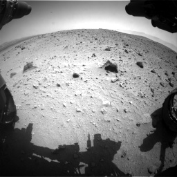 Nasa's Mars rover Curiosity acquired this image using its Front Hazard Avoidance Camera (Front Hazcam) on Sol 404, at drive 1550, site number 16
