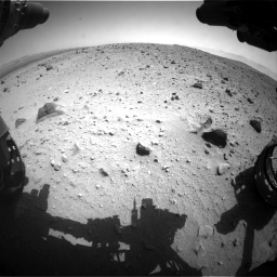 Nasa's Mars rover Curiosity acquired this image using its Front Hazard Avoidance Camera (Front Hazcam) on Sol 404, at drive 1556, site number 16