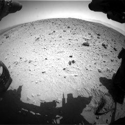 Nasa's Mars rover Curiosity acquired this image using its Front Hazard Avoidance Camera (Front Hazcam) on Sol 404, at drive 1568, site number 16