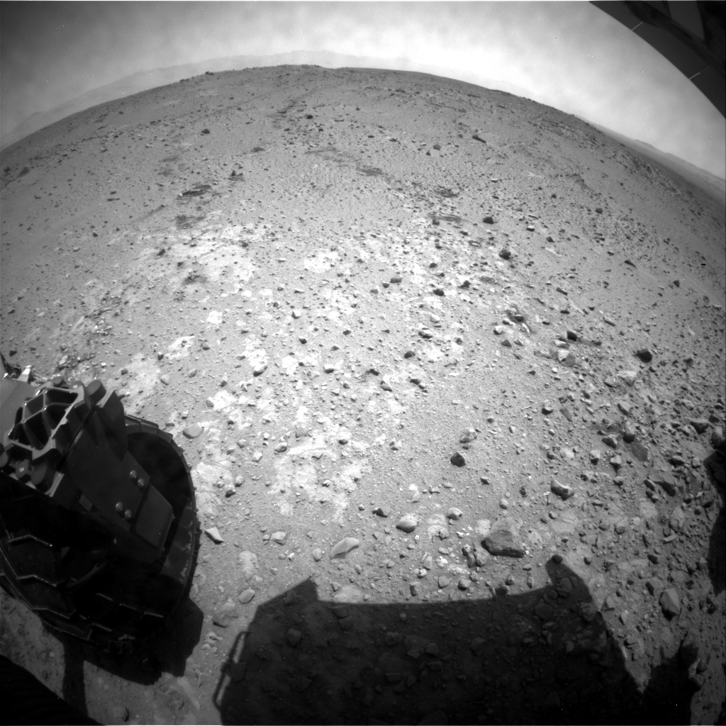NASA's Mars rover Curiosity acquired this image using its Rear Hazard Avoidance Cameras (Rear Hazcams) on Sol 404