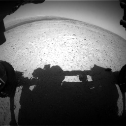 Nasa's Mars rover Curiosity acquired this image using its Front Hazard Avoidance Camera (Front Hazcam) on Sol 406, at drive 1782, site number 16