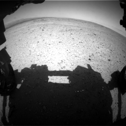 Nasa's Mars rover Curiosity acquired this image using its Front Hazard Avoidance Camera (Front Hazcam) on Sol 406, at drive 1836, site number 16