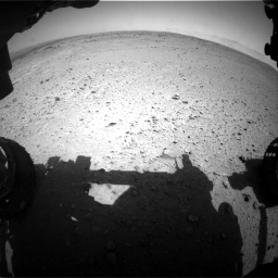 Nasa's Mars rover Curiosity acquired this image using its Front Hazard Avoidance Camera (Front Hazcam) on Sol 406, at drive 1980, site number 16
