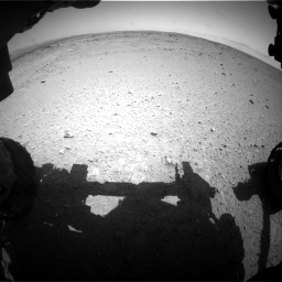 Nasa's Mars rover Curiosity acquired this image using its Front Hazard Avoidance Camera (Front Hazcam) on Sol 406, at drive 2034, site number 16
