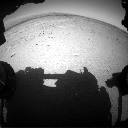 Nasa's Mars rover Curiosity acquired this image using its Front Hazard Avoidance Camera (Front Hazcam) on Sol 406, at drive 2082, site number 16