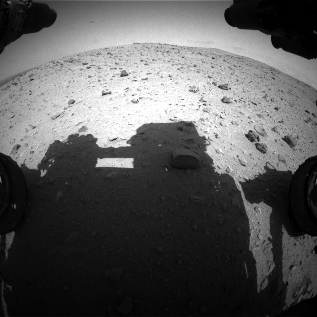 Nasa's Mars rover Curiosity acquired this image using its Front Hazard Avoidance Camera (Front Hazcam) on Sol 406, at drive 1584, site number 16
