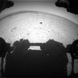Nasa's Mars rover Curiosity acquired this image using its Front Hazard Avoidance Camera (Front Hazcam) on Sol 406, at drive 1764, site number 16