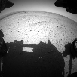 Nasa's Mars rover Curiosity acquired this image using its Front Hazard Avoidance Camera (Front Hazcam) on Sol 406, at drive 1854, site number 16