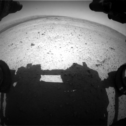 Nasa's Mars rover Curiosity acquired this image using its Front Hazard Avoidance Camera (Front Hazcam) on Sol 406, at drive 1872, site number 16