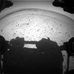 Nasa's Mars rover Curiosity acquired this image using its Front Hazard Avoidance Camera (Front Hazcam) on Sol 406, at drive 1908, site number 16
