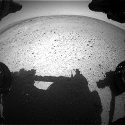 Nasa's Mars rover Curiosity acquired this image using its Front Hazard Avoidance Camera (Front Hazcam) on Sol 406, at drive 1962, site number 16