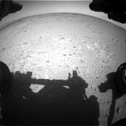 Nasa's Mars rover Curiosity acquired this image using its Front Hazard Avoidance Camera (Front Hazcam) on Sol 406, at drive 2016, site number 16