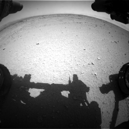 NASA's Mars rover Curiosity acquired this image using its Front Hazard Avoidance Cameras (Front Hazcams) on Sol 406