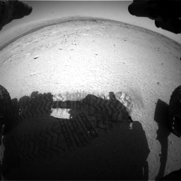 Nasa's Mars rover Curiosity acquired this image using its Front Hazard Avoidance Camera (Front Hazcam) on Sol 406, at drive 2076, site number 16