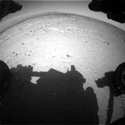 Nasa's Mars rover Curiosity acquired this image using its Front Hazard Avoidance Camera (Front Hazcam) on Sol 406, at drive 2094, site number 16