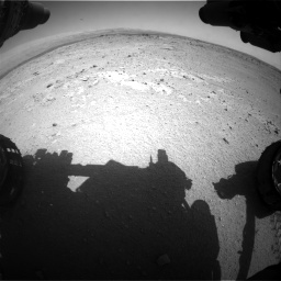 Nasa's Mars rover Curiosity acquired this image using its Front Hazard Avoidance Camera (Front Hazcam) on Sol 406, at drive 2100, site number 16