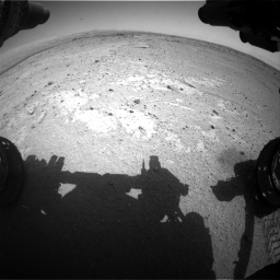 Nasa's Mars rover Curiosity acquired this image using its Front Hazard Avoidance Camera (Front Hazcam) on Sol 406, at drive 2120, site number 16