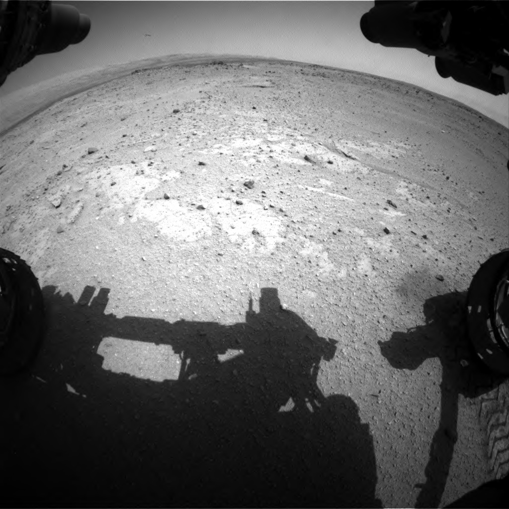 Nasa's Mars rover Curiosity acquired this image using its Front Hazard Avoidance Camera (Front Hazcam) on Sol 406, at drive 0, site number 17