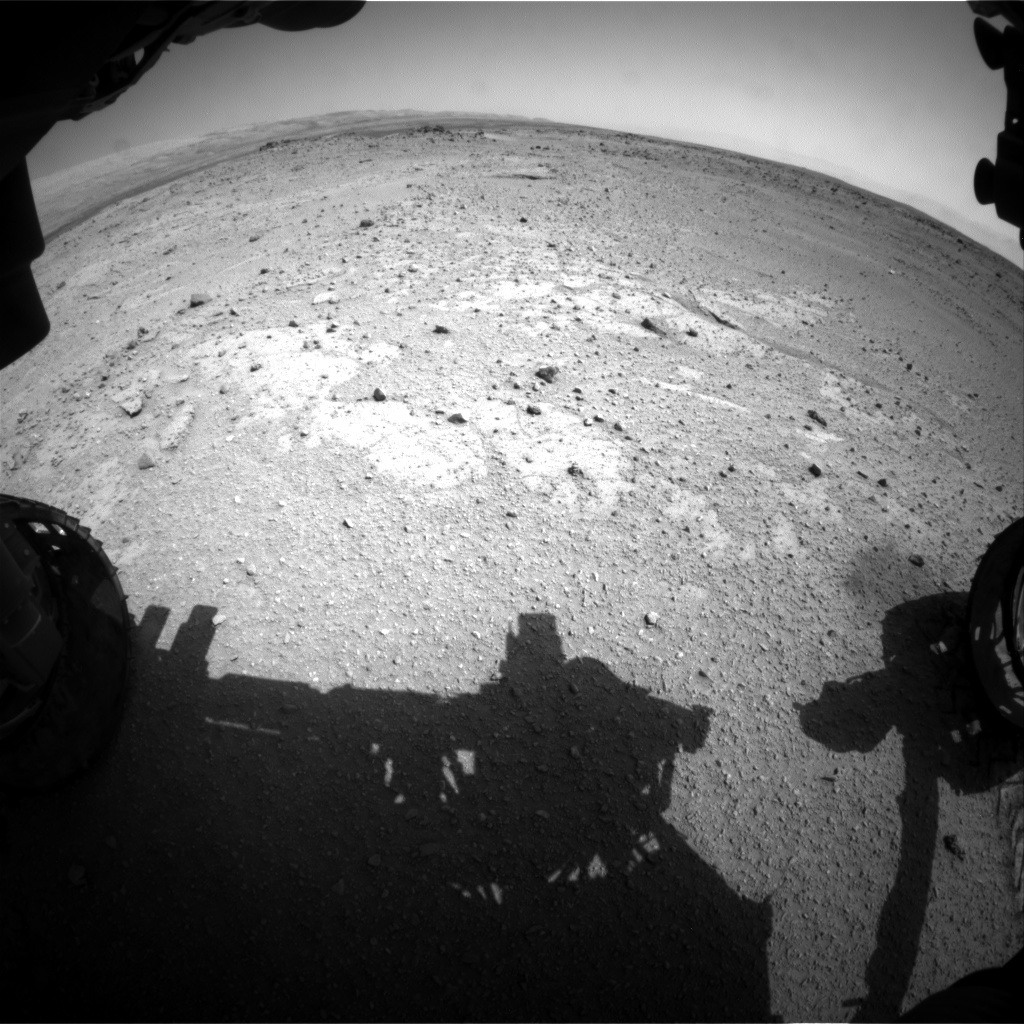 NASA's Mars rover Curiosity acquired this image using its Front Hazard Avoidance Cameras (Front Hazcams) on Sol 407